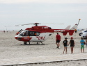 First Responder-Einsatz am Ordinger Strand, St. Peter-Ording